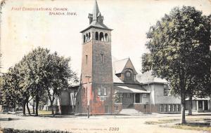 Spencer Iowa~First Congregational Church~Neighboring Homes~1908 Kropp Postcard