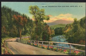 New Hampshire ~ MT. WASHINGTON from Glen Road, White Mountains LINEN