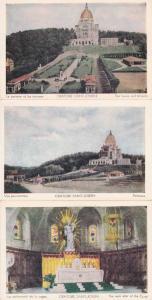 (3 cards) Oratoire Saint-Joseph Lawns Panorama Main Alter Montreal Quebec Canada