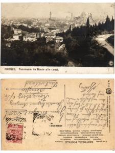 CPA Firenze Panorama da Monte alle Croci. ITALY (447875)