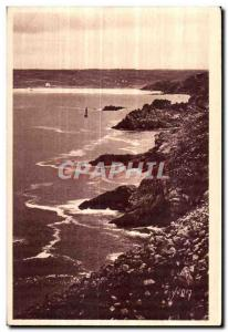 Old Postcard Cote Sauvage Pointe Du Raz (Finistere) Trepassey