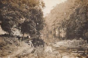 Lathkill Dale Derby Quiet Waters River Antique WW1 1916 Real Photo Postcard