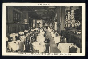 New York City, New York/NY Postcard, Luchow's Famous Restaurant, East 14th St