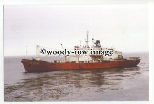 cd0402 - South African Research Ship - S.A Agulhas , built 1978 - postcard
