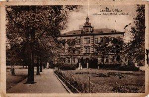 CPA AK Landau Hohere Stadt.Madchen-Schule GERMANY (898471)