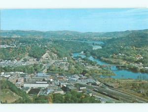 Unused Pre-1980 AERIAL VIEW OF TOWN White River Junction Vermont VT n2468-22