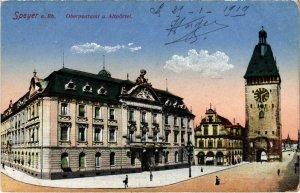 CPA AK Speyer a. Rh. Oberpostamt u. Altportel GERMANY (921635)