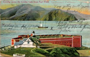 California San Francisco Looking Across The Golden Gate From Fort Point 1910