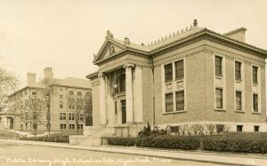 MA - Hyde Park. Public Library and High School    *RPPC