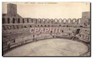 Old Postcard Arles inside the Amphitheater