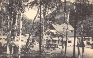Bartlett New Hampshire~Henry W Mead Silver Spring Lodge & Cabins~1930s Photolux