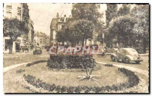 Old Postcard Besancon Le Rond Point flowery