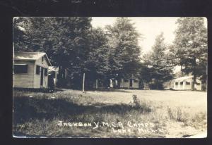 RPPC LAKE MICHIGAN JACKSON YMCA CAMPS HENDERSON MICH. REAL PHOTO POSTCARD