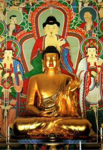 South Korea Kyeongju Gilt-Bronze Of Stated Amitabha Buddha