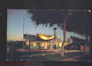 LOMITA JUNCTION CALIFORNIA RAILROAD DEPOT AT NIGHT TRAIN STATION POSTCARD