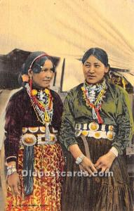 Indian Old Vintage Antique Postcard Post Card Navajo Woman Dressed in their F...