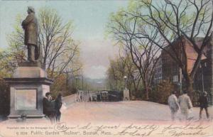 Massachusetts Boston Public Garden Incline 1908 Rotograph