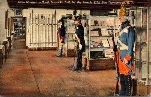 New York Fort Ticonderoga Main Museum In South Barracks 1949 Curteich
