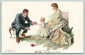 Alonzo Kimball~The Tie That Binds~Baby Toddles Between Mom & Dad~1905 R&N 122