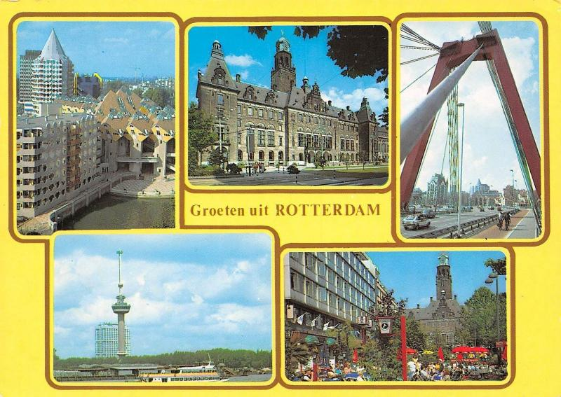 Netherlands Groeten uit Rotterdam, Greetings, bonjour / Holland
