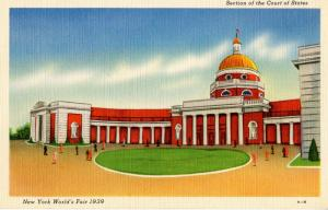 NY - 1939 New York World's Fair. Section of the Court of States