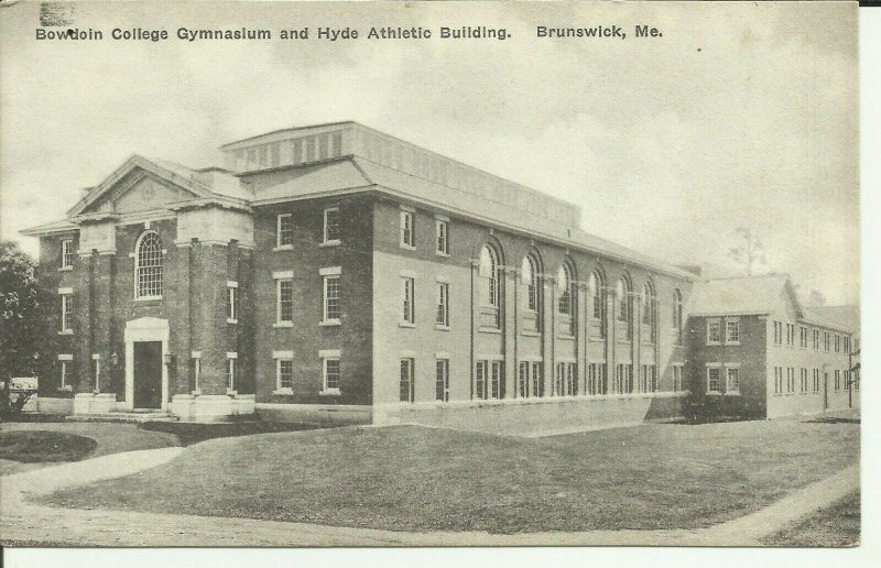 Brunswick, Maine, Bowdoin College Gymnasium And Hyde Athletic Building
