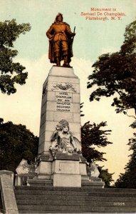New York Plattsburgh Samuel De Champlain Monument