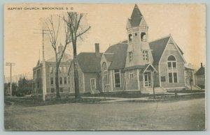 Brookings South Dakota~Baptist Church~Neighborhood School~Home~c1915 Postcard