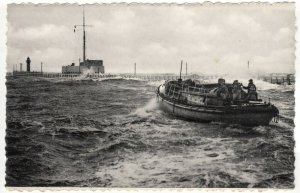 Shipping; Ostende, Lifeboat In The Storm PPC By A Dohmen, Unposted, c 1950's