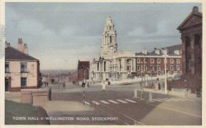Town Hall & Wellington Road, Stockport, Greater Manchester, England, UK, 1910...