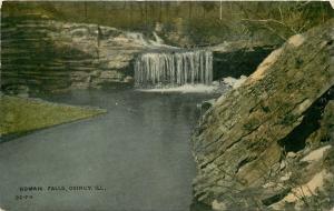 Quincy Illinois~Homan Falls~Rock Bluffs~Still Calm Pool~1910 Postcard