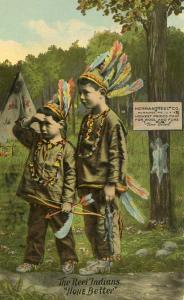 Advertising - The Reel Indians (Wool & Furs) Herman Reel Co., Milwaukee