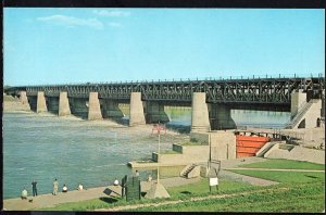 Manitoba ~ St Andrews Dam and Lock at LOCKPORT near Winnipeg Chrome 1950s-1970s
