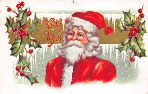 Santa Claus Post Card Old Vintage Antique Christmas Postcard 1910