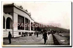 Old Postcard Menton New Casino Municipal Architect Roger Swassal