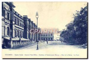 Old Postcard Queen Street Colombo Sri Lanka General Post Office Queen Street ...