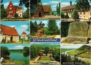 Germany Multiview Spenge Werburg Enger Lohne Vlotho Wittekindstein Postcard D58