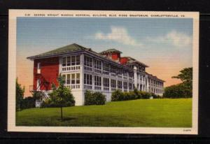 Virginia Postcard Wright Bldg, Sanitorium Charlottesville