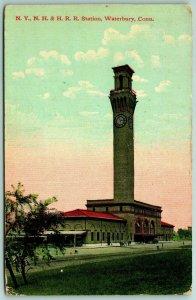 Waterbury CT New York, New Haven & Hartford RR Depot~Town Larger Than Wichita*