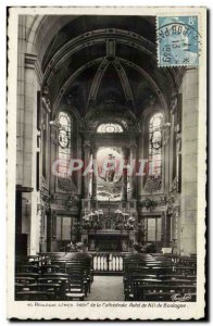 Old Postcard Boulogne Sur Mer Inside the cathedral altar of Our Lady of Boulogne