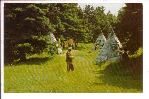 MicMac Indian Teepees Chief Red Cliff  Rocky Point Prince Edward Island, Canada,
