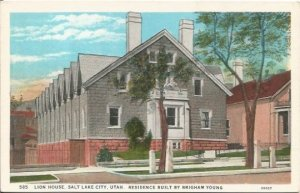 Old Postcard, Lion House Residence Built By Brigham Young Salt Lake City Utah