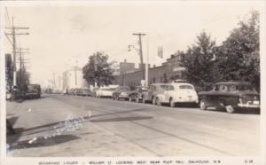 Canada New Brunswick Dalhousie William Street Looking West Near Pulp Mill Rea...