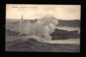 015905 LIGHTHOUSE in Biarritz France Vintage PC