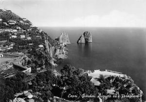 Italy Capri The Augustus Gardens and the Faraglioni