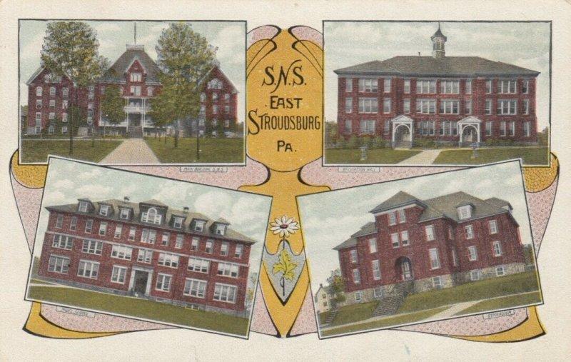 EAST STROUDSBURG , Pennsylvania , 1900-10s; S.N.S. 4 Buildings