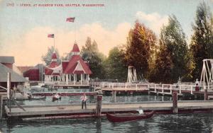 Seattle Washington~Madison Park Boat Scene~Lagoons~Boardwalk Swings~1908 PC