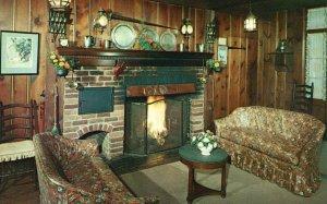 Olney, MD, Olney Inn, Fireplace, Distinctive Country Dining, Old Postcard g8250