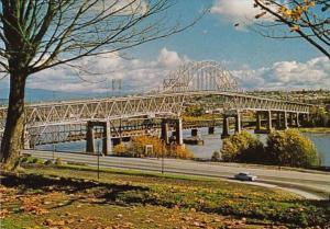 Canada British Columbia New Westminster Pattullo Bridge Across Fraser River