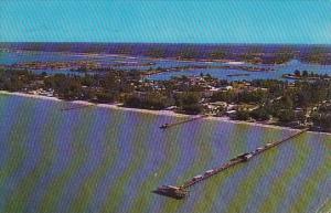 Florida Saint Petersburg Air View Of Big Indian Rocks Fishing Pier 1966